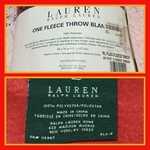 Ralph Lauren Bedding - Ralph Lauren fleece throw blanket